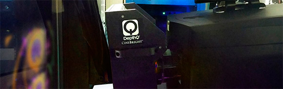 DepthQ® CineBright 3D installed with 6KW projector in Belgium.
