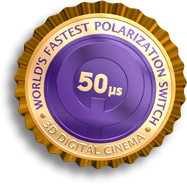 The DepthQ® Polarization Modulator is the world's fastest polarization switch for 3D digital cinema